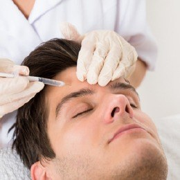 Man receiving Botox injections