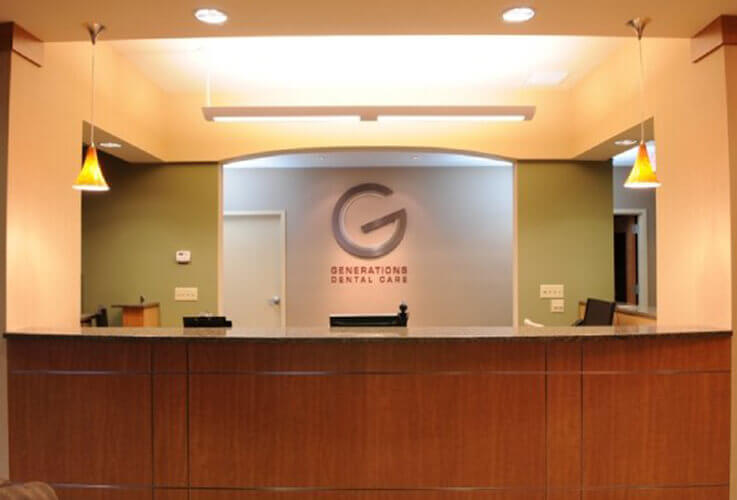 front desk of Generations Dental Care