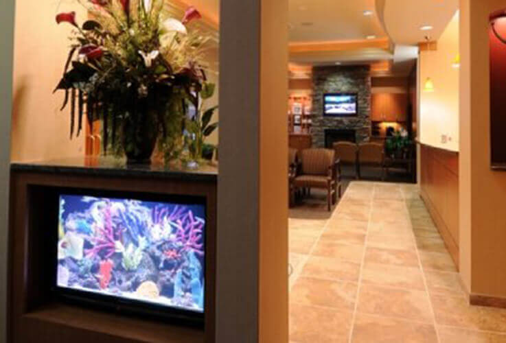 waiting room fish tank
