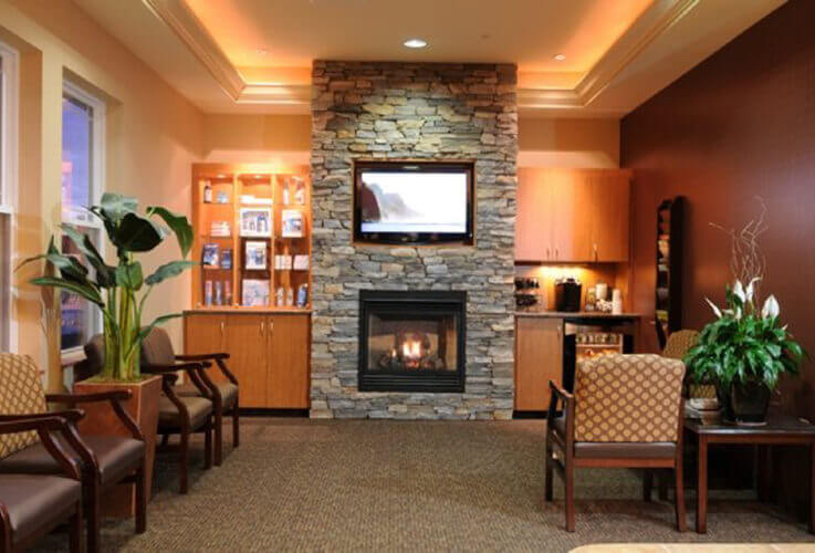 waiting room fire place
