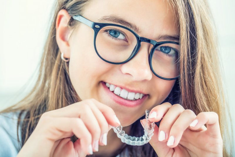 Woman with Invisalign